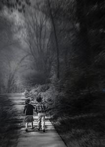 walking in the woods art (1 of 1)